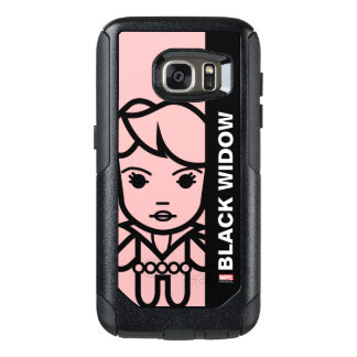 Black Widow Stylized Line Art OtterBox Samsung Galaxy S7 Case