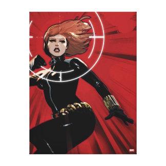Black Widow Targeted Canvas Print