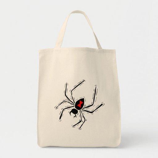 Black Widow Trick Or Treat Tote Bag