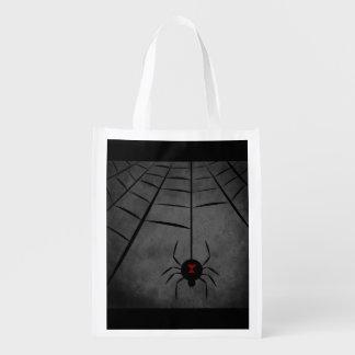 Black Widow Web Grocery Bags