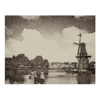 Black Windmill , Haarlem, Netherlands Postcard