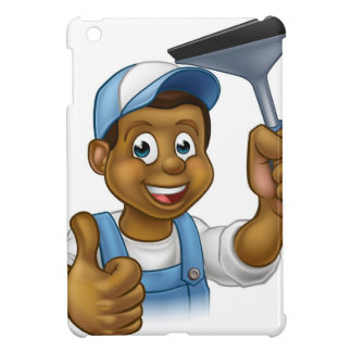 Black Window Cleaner With Squeegee Case For The iPad Mini