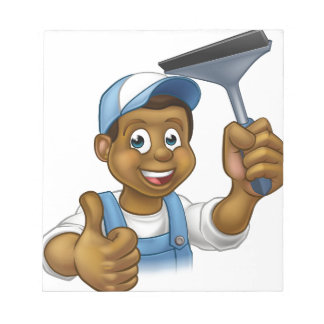 Black Window Cleaner With Squeegee Notepads