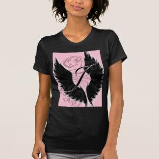 Black Wing Monogram J Black Letter T-Shirt