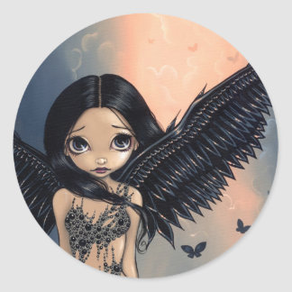 """Black Winged Angel"" Sticker"