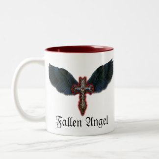 Black winged cross Mug