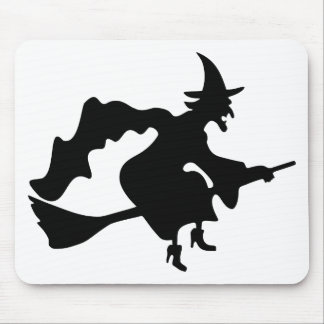 Black witch mouse pad