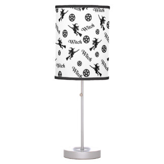 Black Witches and Pentacles Table Lamp