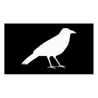 Black with a White Crow. Business Card Templates