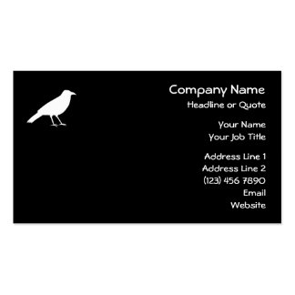 Black with a White Crow. Business Card