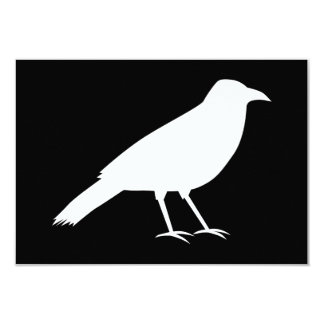 Black with a White Crow. Card