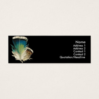 Black with Feathers Profile Cards