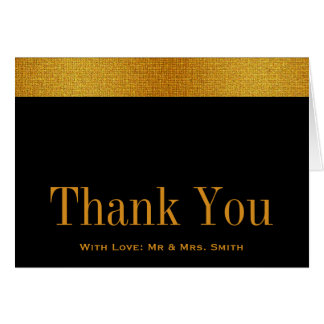 Black with Gold Badge Band Thank You Card