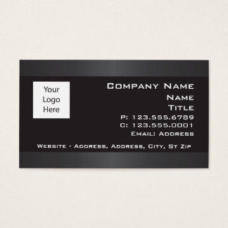 Black with Gray borders Business cards