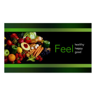 Black With Green Border Healthy Life/ Card Business Card