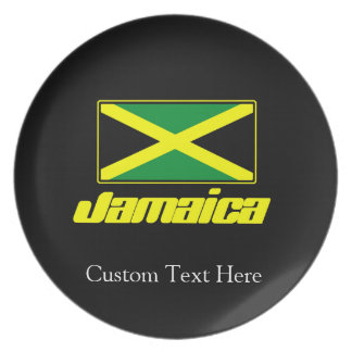 Black with Jamaica Flag Plate
