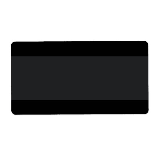 Black with lighter band plain blank shipping label