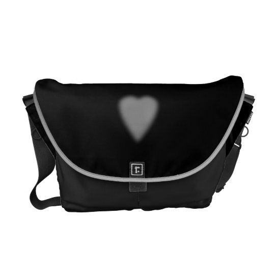 Black with Misty Heart Courier Bags