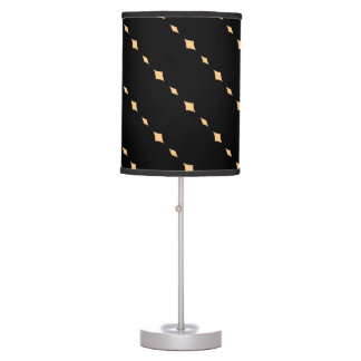 Black with Peach Stripes ( Diagonal) Table Lamp