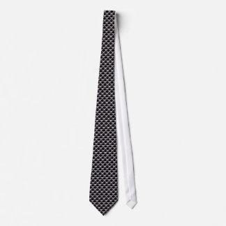 Black with Pink Triangles Tie