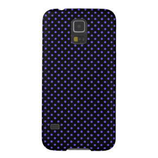 Black With Small Purple Polka Dots Galaxy S5 Cover