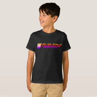 Black with Sunburst - Raven Hockey Logo T-Shirt