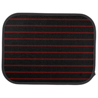 Black with Thin Red Stripes Rear Car Mat