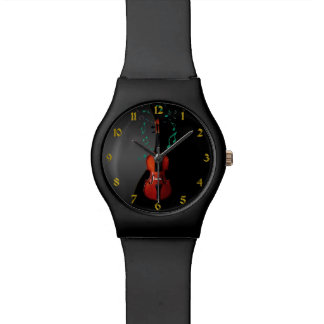 Black With Violin Music Watch