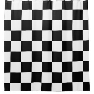 Black With White Checkerboard