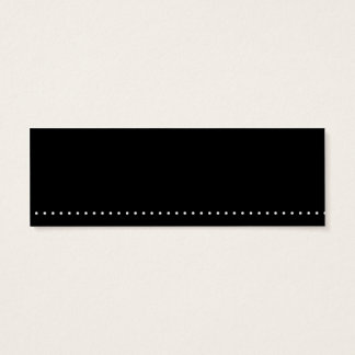 Black with White Dot Skinny Card