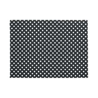 Black with white dots doormat