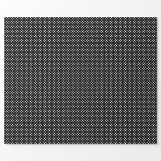 Black with White Polka-Dots Wrapping Paper