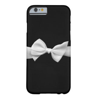 Black with white ribbon bow graphic iPhone 6 case