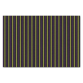 Black with Yellow & Purple Stripes Tissue Paper