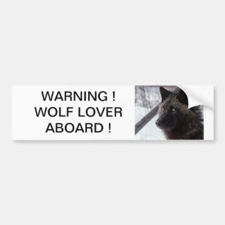 Black Wolf Bumper Sticker
