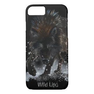 Black wolf iPhone 8/7 case
