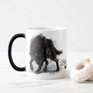 Black wolf magic mug