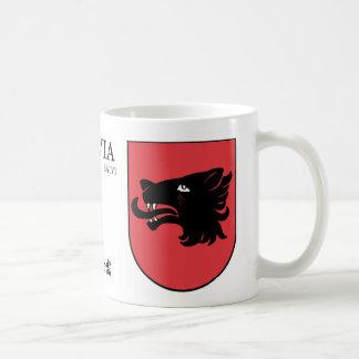 Black Wolf Shield from Balvi, Latvia Coffee Mug