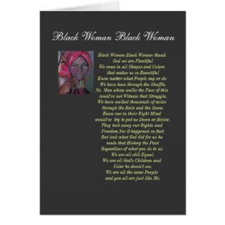 Black Woman Card