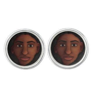 Black Woman Watching Cuff Links