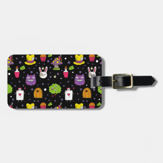 black Wonderland Luggage Tag