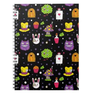 black Wonderland Notebook