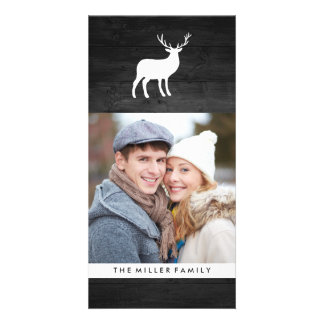 Black Wood and White Stag | Holiday Photo Cards