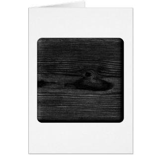 Black Wood Image. Card