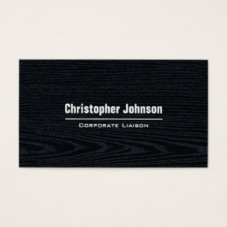 Black Wood Modern Professional Business Card