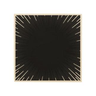 black wood print