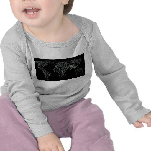 Black world atlas tee shirts