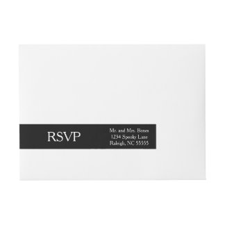 Black Wraparound Address Label
