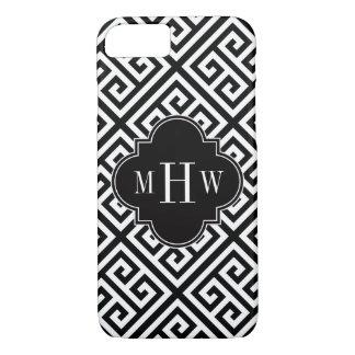 Black Wt Med Greek Key Diag T Black 3I Monogram Case-Mate iPhone Case