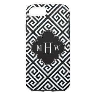 Black Wt Med Greek Key Diag T Black 3I Monogram iPhone 7 Case